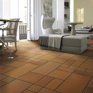 Pavimentos de gres natural de gres rustico ebro de formatos diversos para colocaciones - Gres rustico para interiores ...