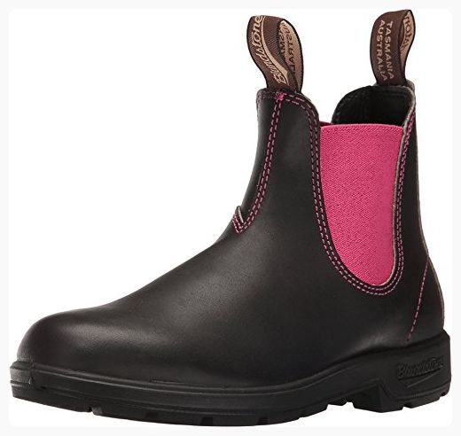 Blundstone Women's 1329 Chelsea Boot, Stout Brown/Pink, 4.5 UK/7.5 M