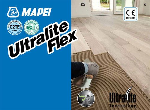 Ultralite flex mapei adesivo per piastrelle in ceramica. sacco da