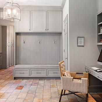 gray mudroom cabinets with beadboard trim i would love to on best laundry room paint color ideas with wood trim id=62116