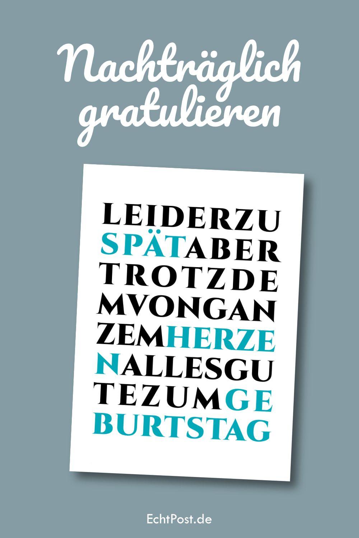 Nachtraglich Gratulieren Per Postkarte Es Kann Passieren Dass