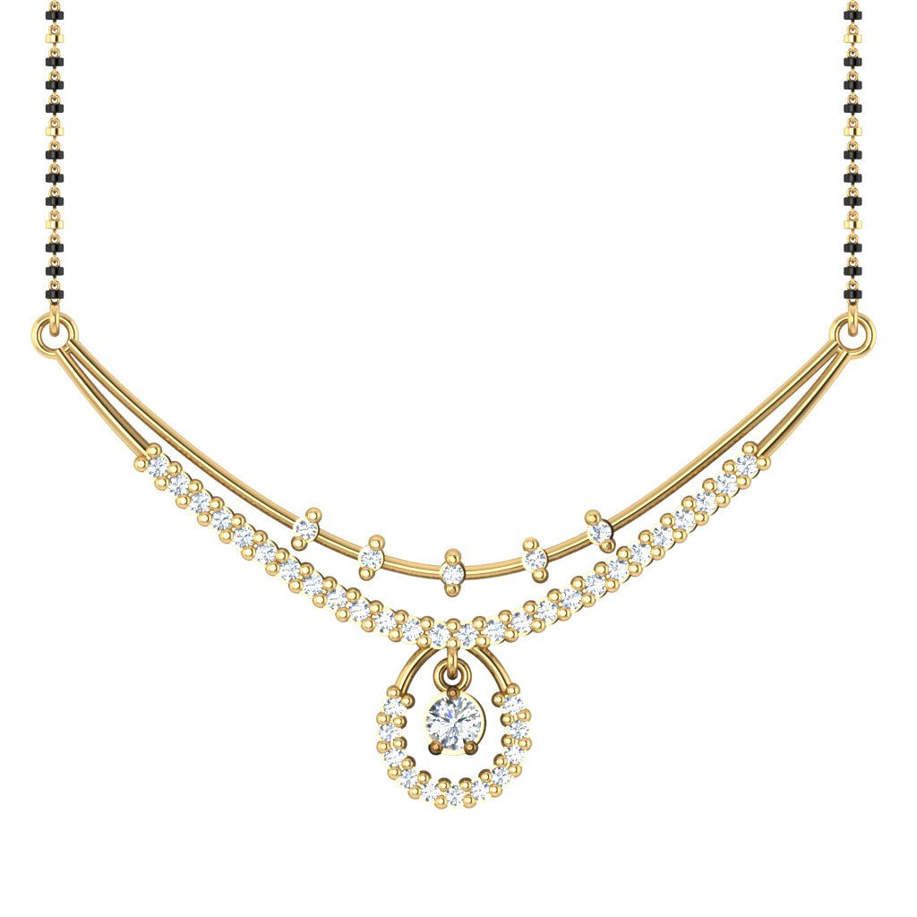 Ct diamond mangalsutra kkt gold diamond pendants diamond