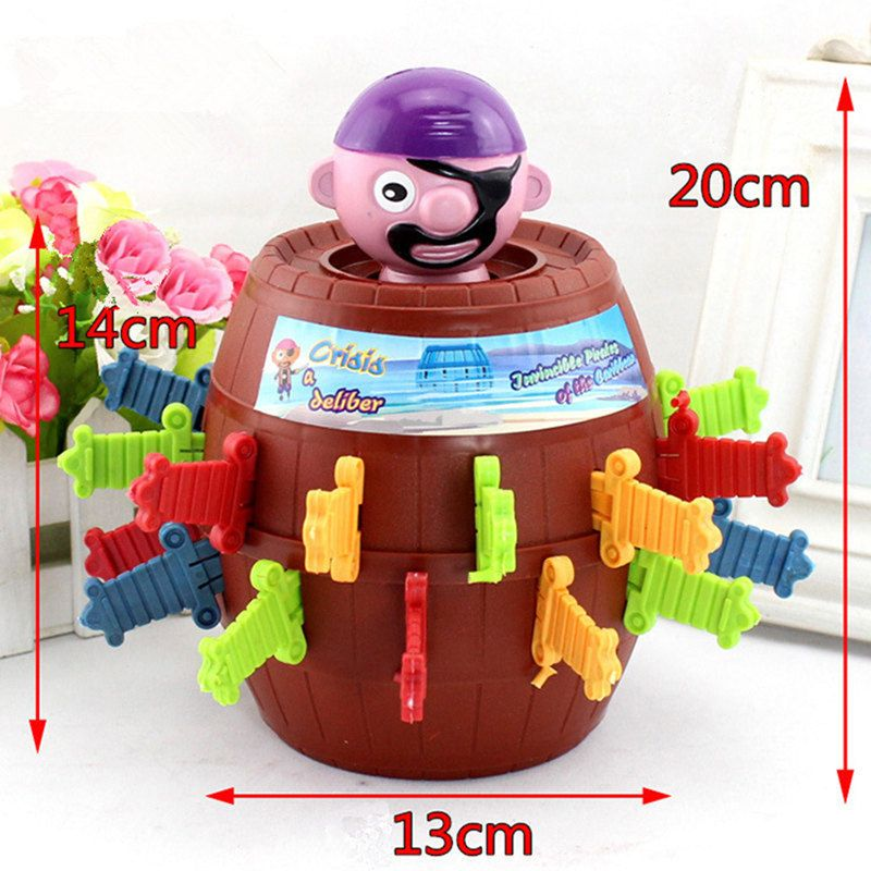 Large-scale Nieuwigheid Grappige Speelgoed  Lucky Game toys for children   Gadget Grappen Tricky 24 Zwaarden Pirate Barrel Game