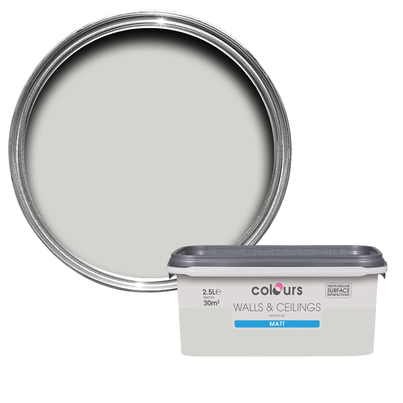B q bathroom scales - Colours Grey Hints Matt Emulsion Paint 2 5l Departments Diy At B Q