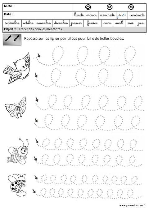 Boucles - Montantes - Graphisme - Maternelle - Grande ...