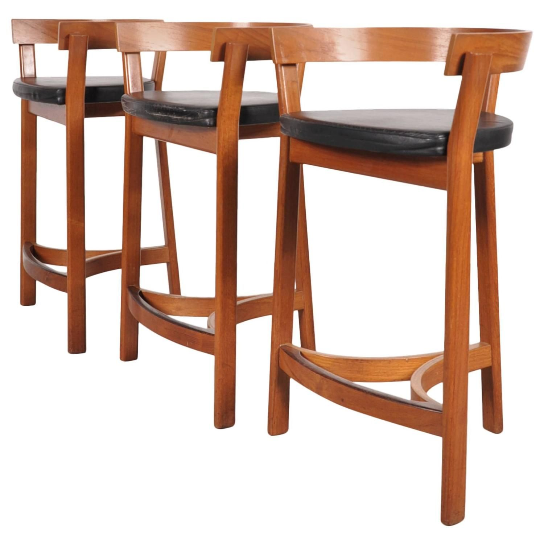 set of three bar stools by oddense maskinsnedkeri a s domus danica rh pinterest com