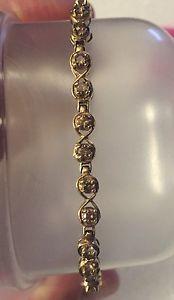 10 Karat Gold 2 1 Carat Chocolate Diamond Tennis Bracelet Ebay
