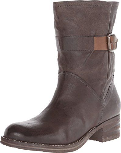 Clarks Women's Mezze Game Dark Grey Leather/Grey Suede Boot 7 B (M)