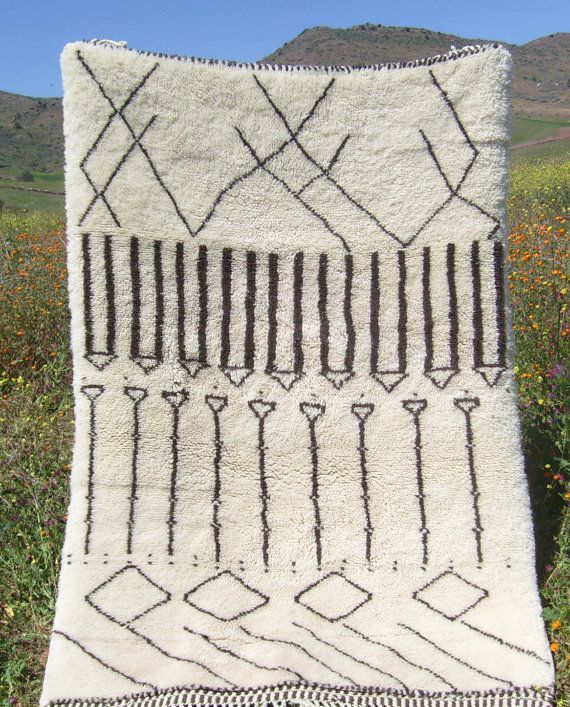 Azilal Rug. Berber Weave Of The Atlas Mts, Size 4.02x6.04