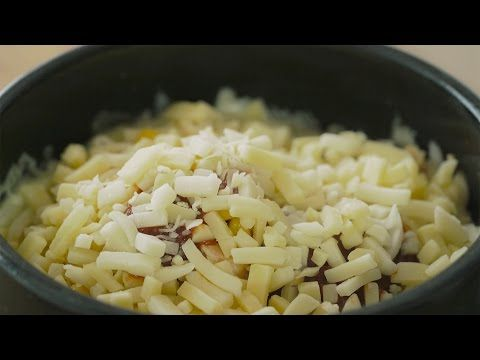 4k Video 눈으로 먹는 치즈밥 Cheese Rice Honeykki 꿀키 Youtube 식품 아이디어 음식 요리법 1인분