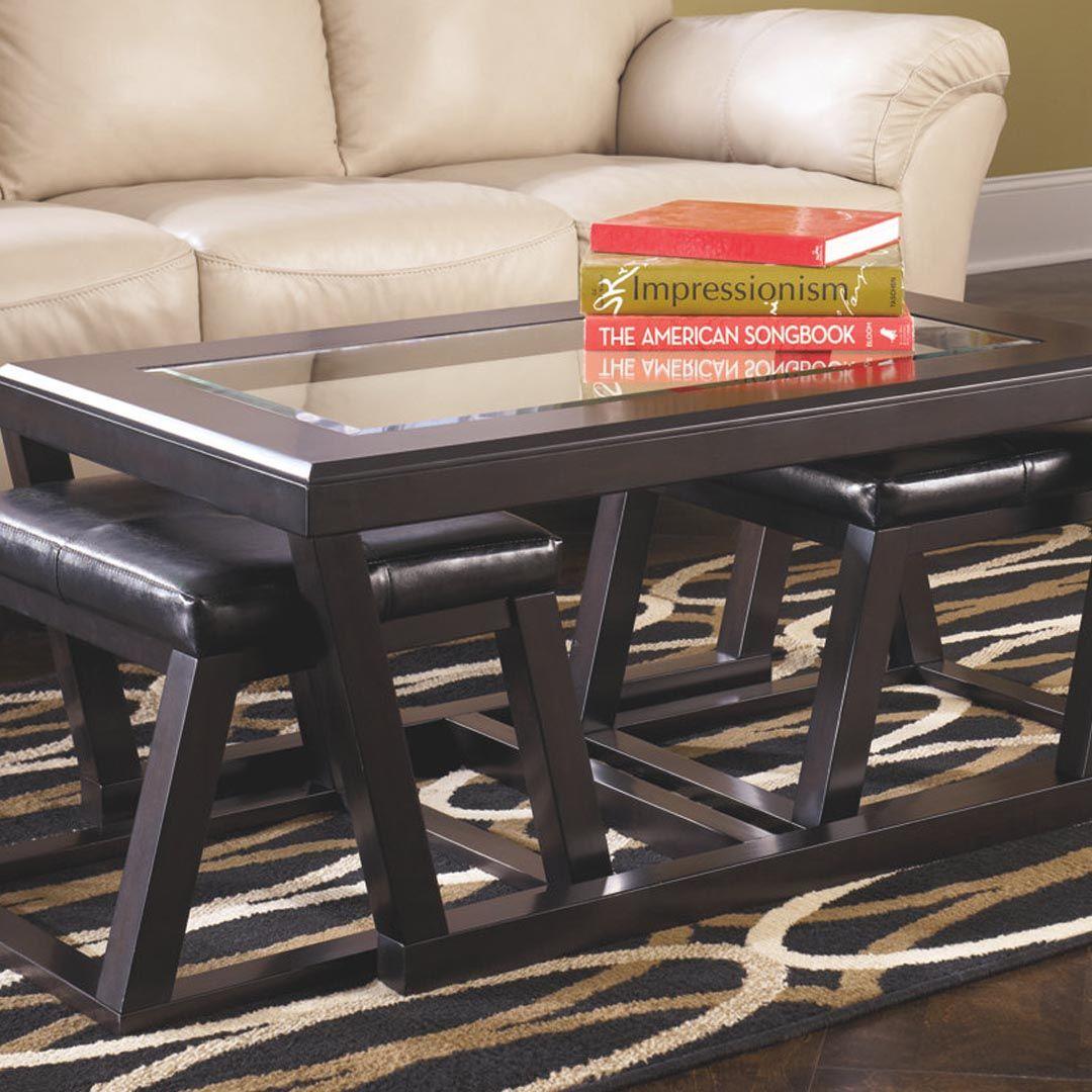 Ashley furniture kelton coffee table with nesting stools