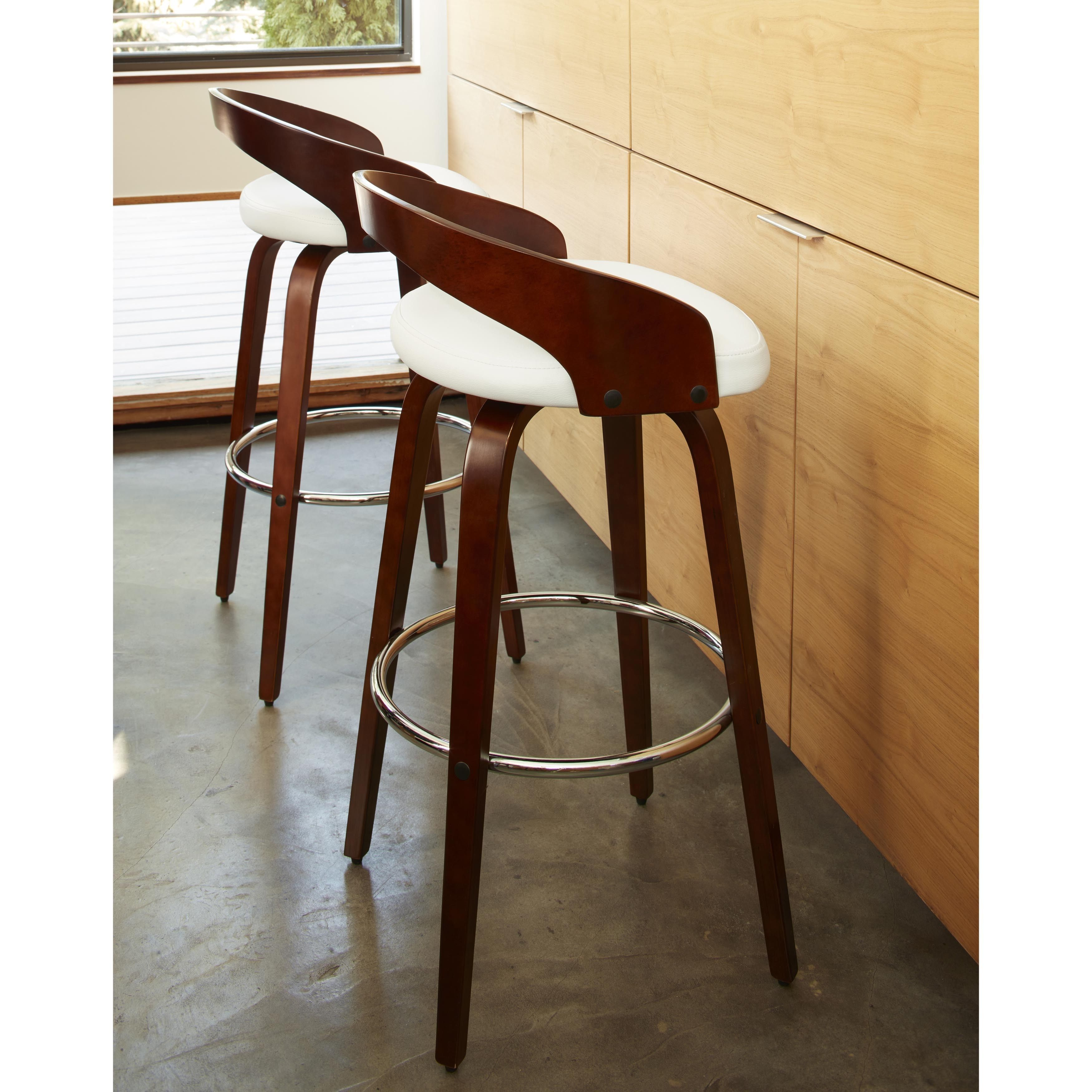 Cool Carson Carrington Solavagen Mid Century Modern Wood Barstool Pabps2019 Chair Design Images Pabps2019Com