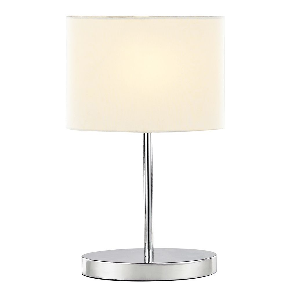Modern Chrome Plated Touch Dimmable Table Lamp With Fabric Shade Contemporary And Sleek Bedside Table Lamp Complete With O Dimmable Table Lamp Lamp Table Lamp
