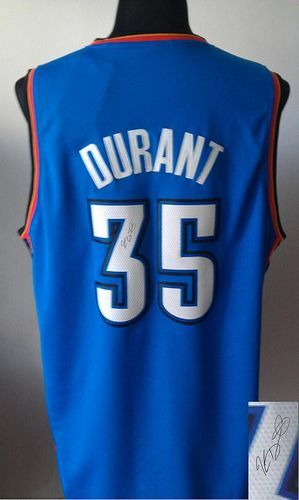Revolution 30 Autographed Thunder #35 Kevin Durant Blue ...