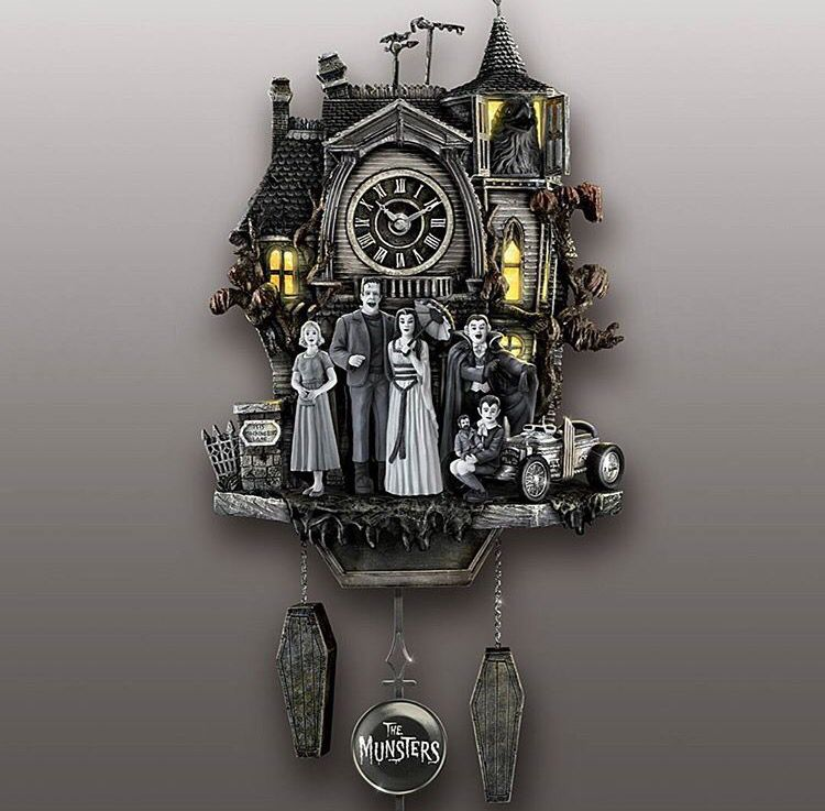 The Munsters Clock Home Sweet Horror Gothic Home Decor