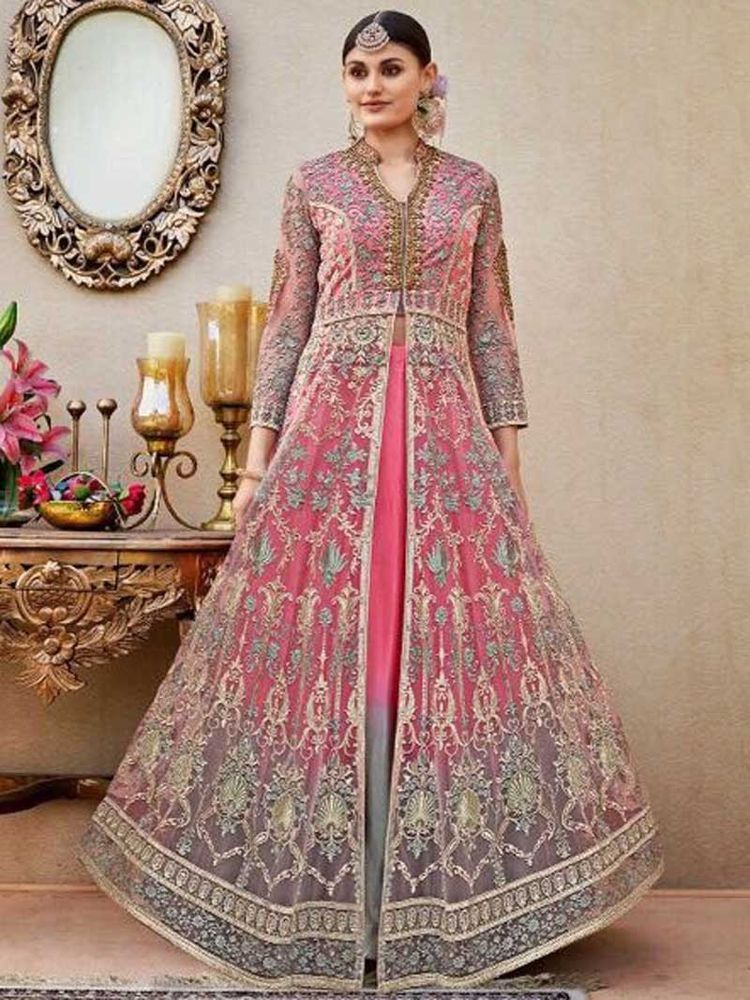 1339bd9320e Designer Bollywood Indian Full EmbroideryPakistani Long Anarkali Party Wear  Suit  Handmade  Anarkali