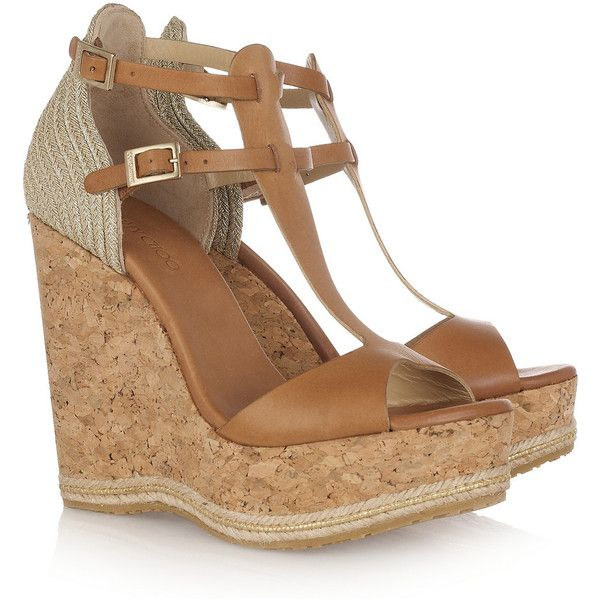 jimmy choo preya leather and raffia wedge sandals 245 liked on rh pinterest nz