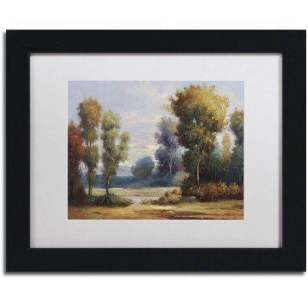Trademark Fine Art Memory Lane Canvas Art by Daniel Moises, White Matte, Black Frame, Size: 11 x 14