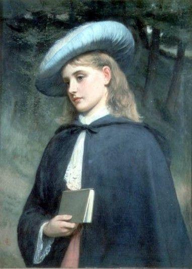 Girl Holding a Book. Charles Sillem Lidderdale (British, 1830-1895).