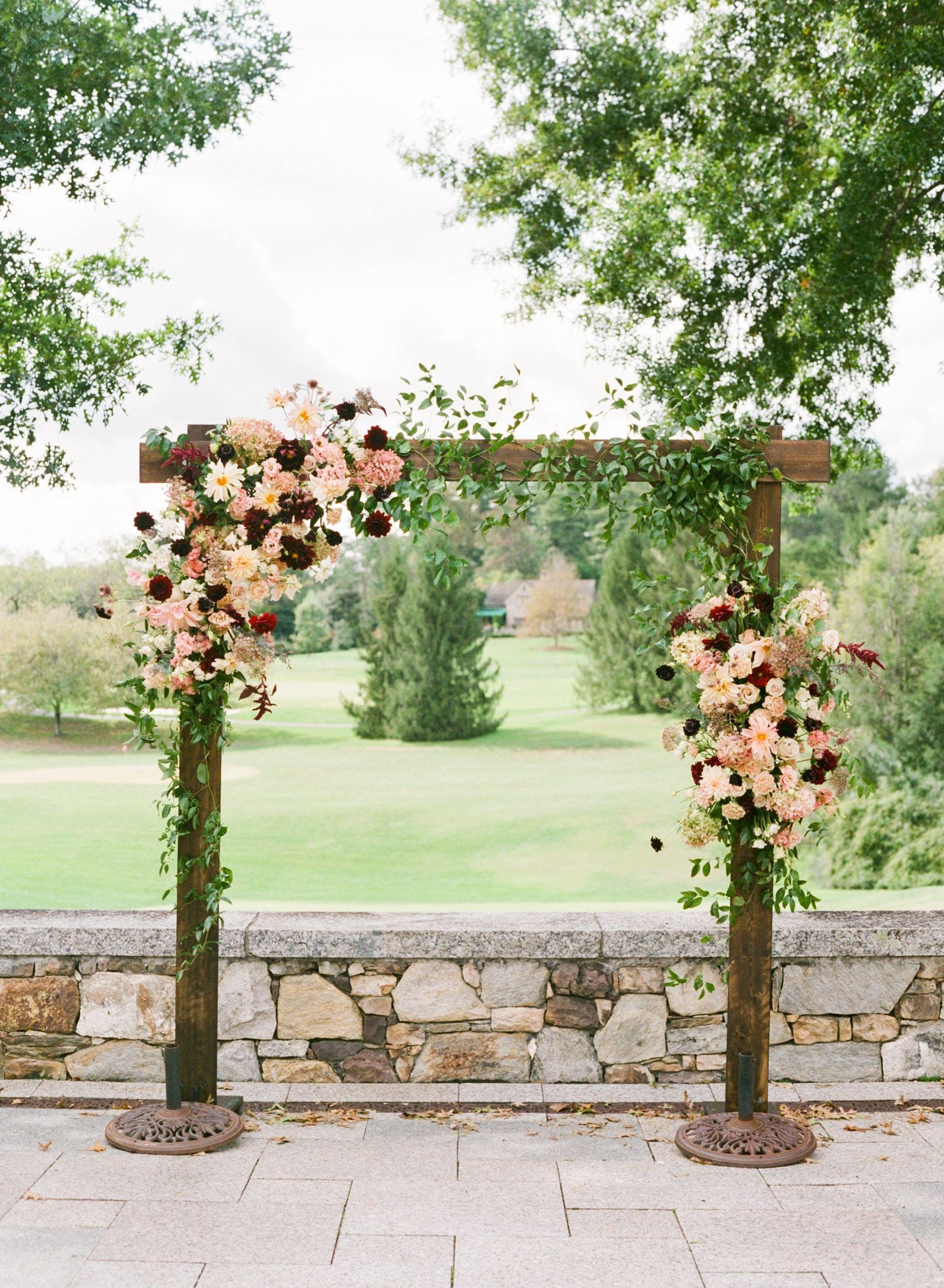 Sabrina Charlie Fall Wedding Arches Dahlias Wedding Wedding Arch Flowers