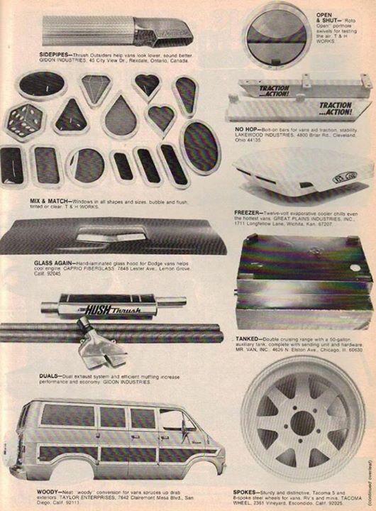 Trick Van Accessories Vintage Vans Gmc Vans Cool Vans