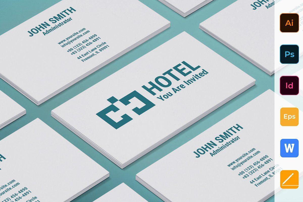 hotel brochure bifold in 2020  business card template