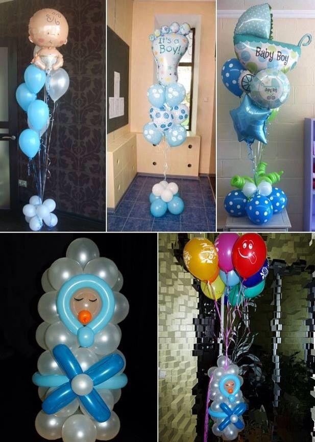 Globos Decoración En 2019 Globos De Baby Shower Centros