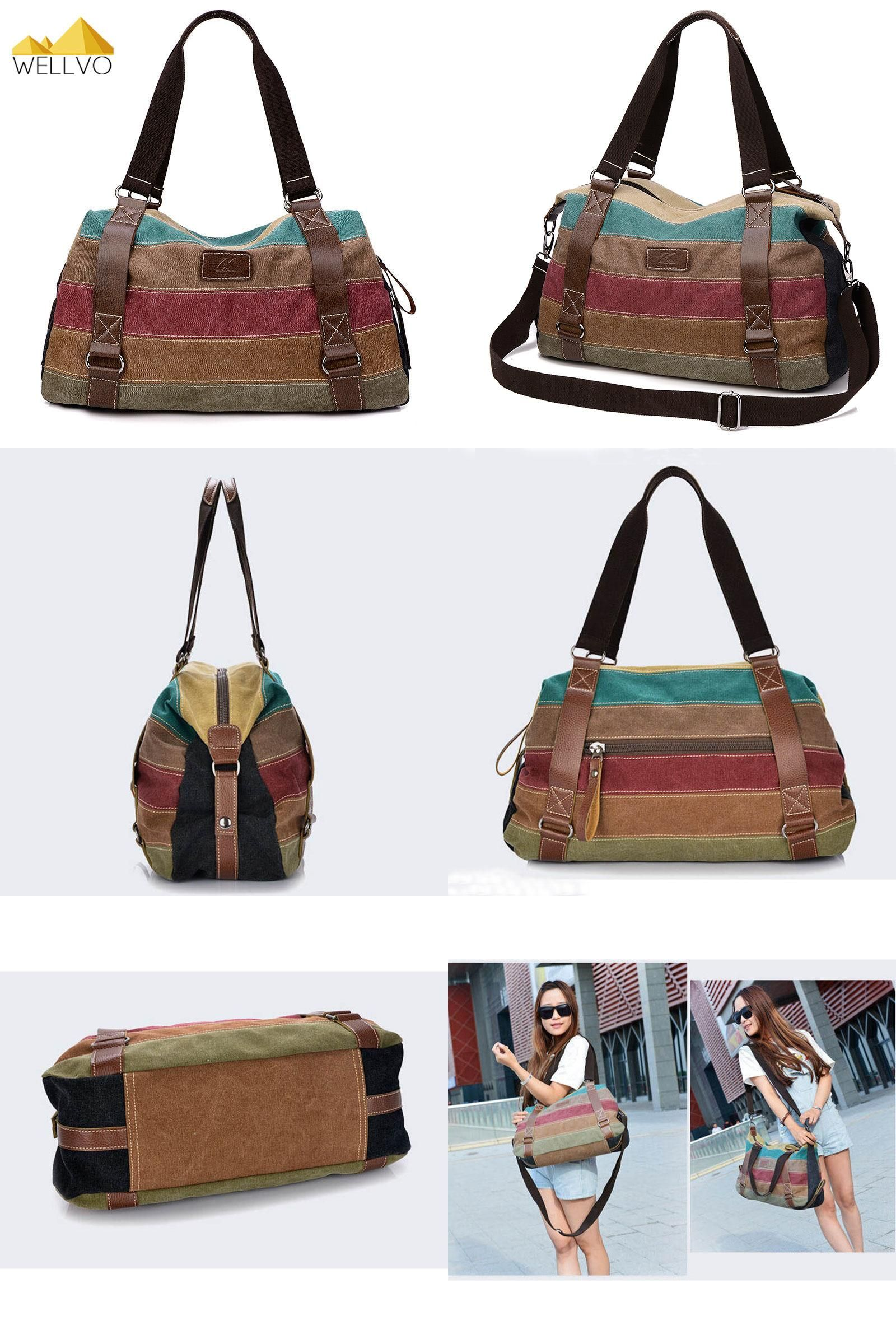 Visit to Buy] Large Canvas Bag Women Handbag Ladies Casual ...