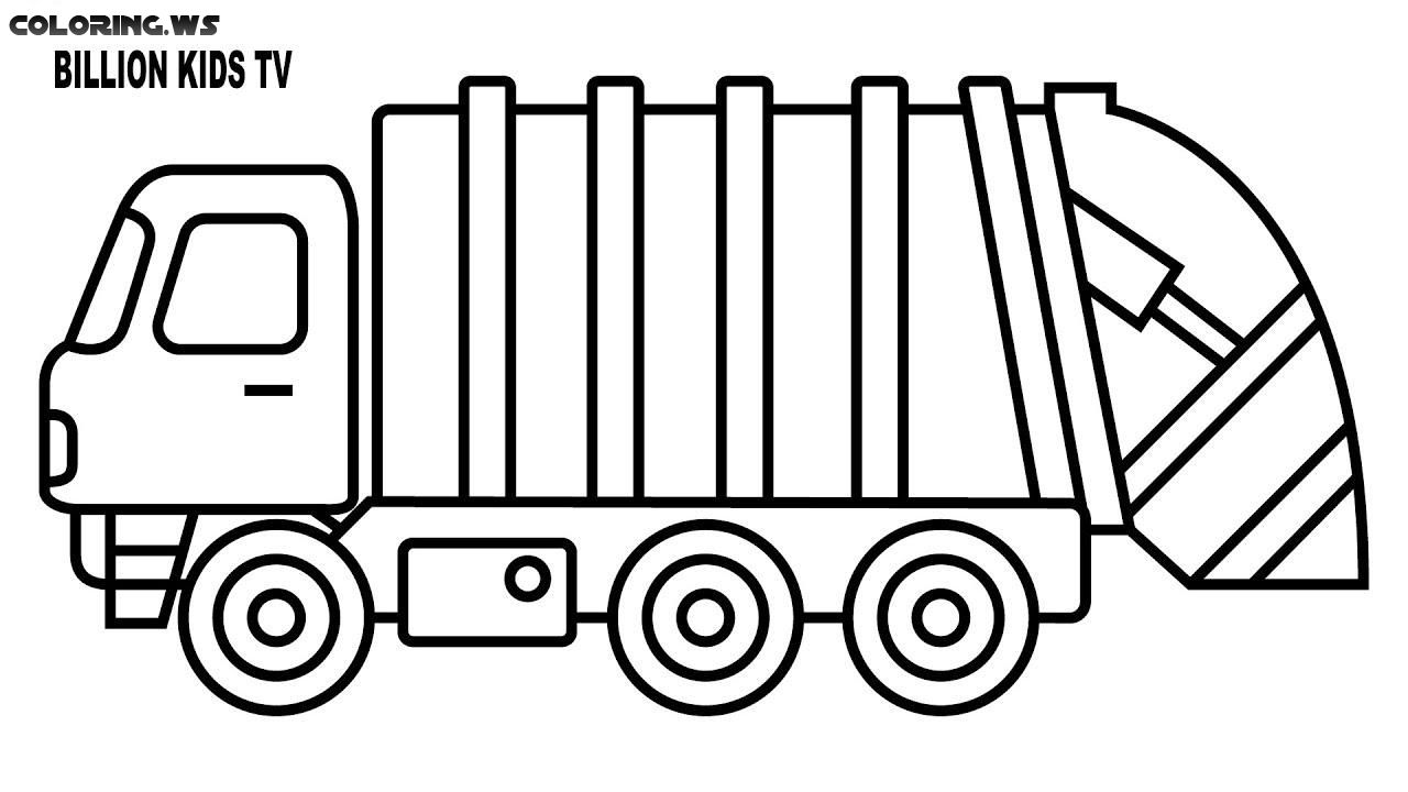 Garbage Truck Coloring Page Truck Coloring Pages The History