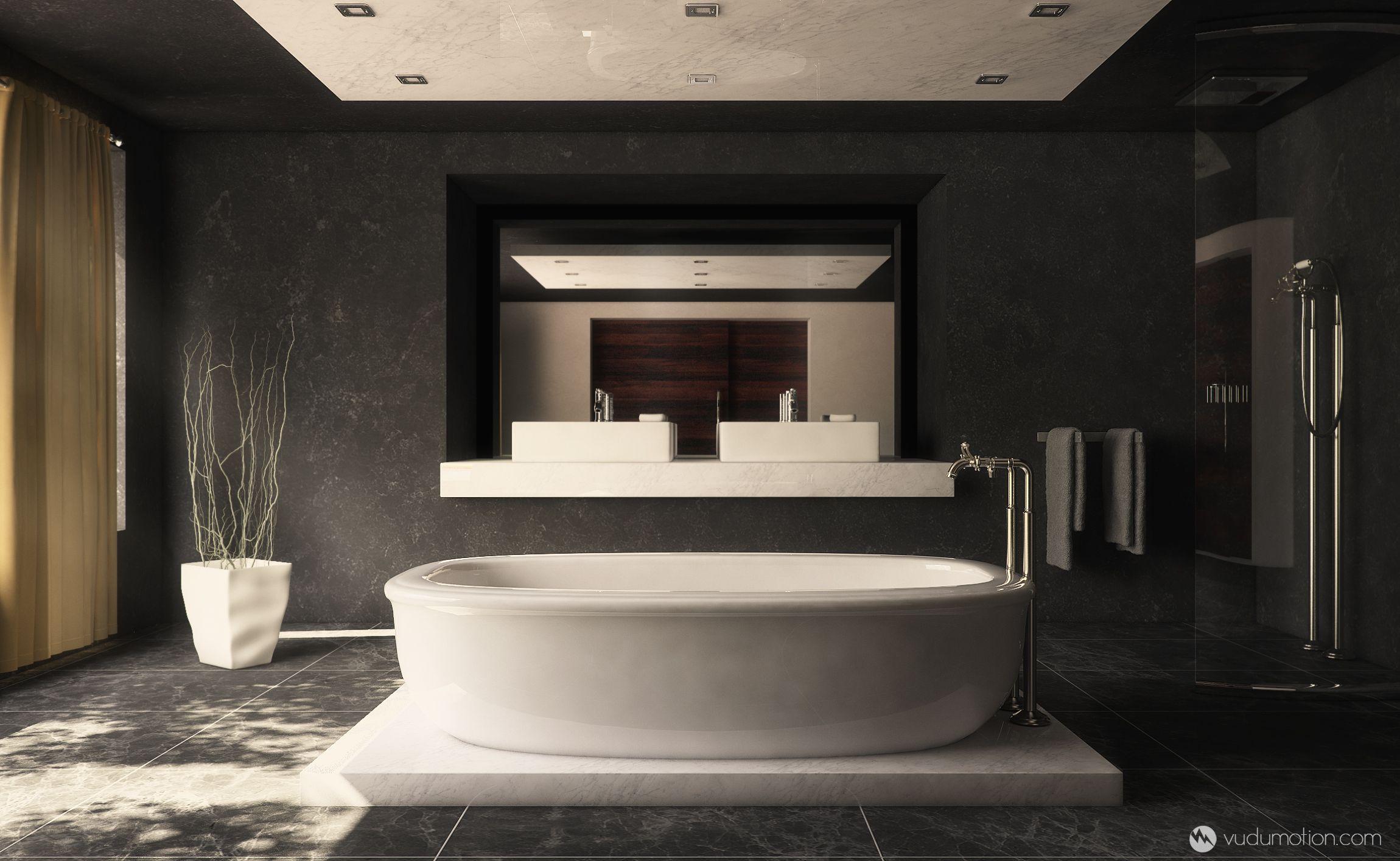 Contemporary Bathroom By Vudumotion Deviantart Com On Deviantart