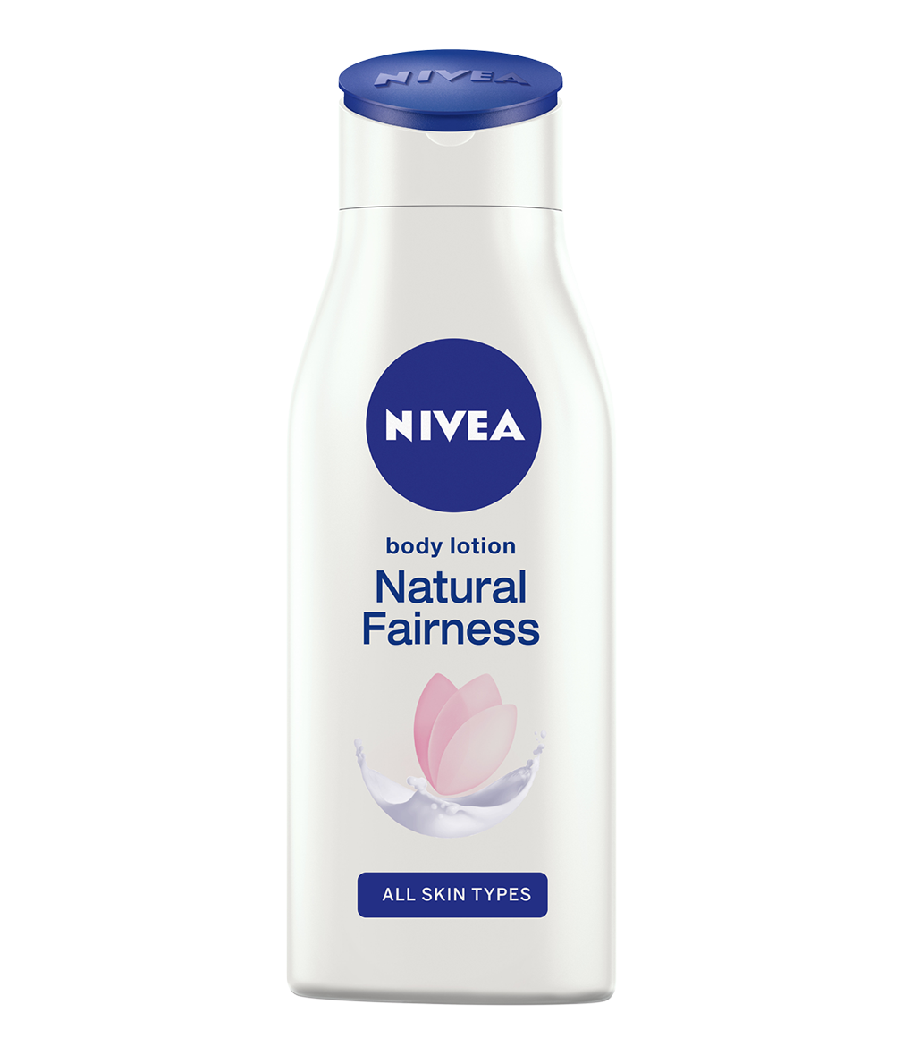 Fairer and eventoned skin NIVEA Natural Fairness body