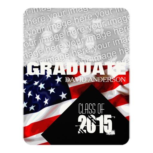 american flag graduation class of 2018 invitation zazzlers