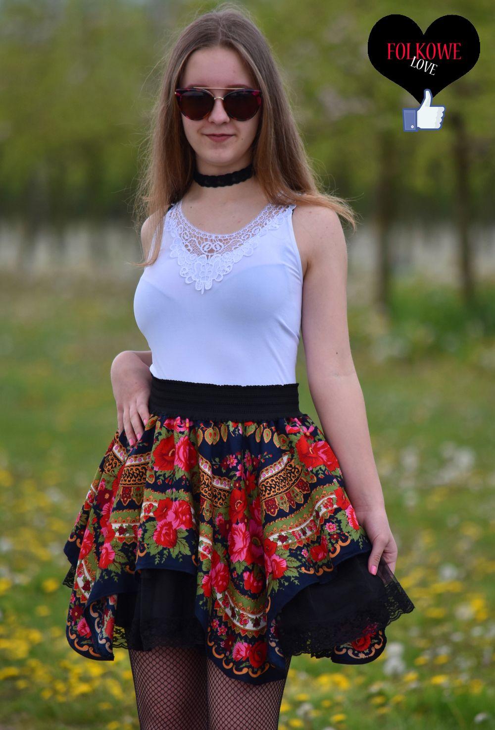 0c598cca góralska spódnica #słowiańska spódnica #folkowa #słowianka #spódnica ...