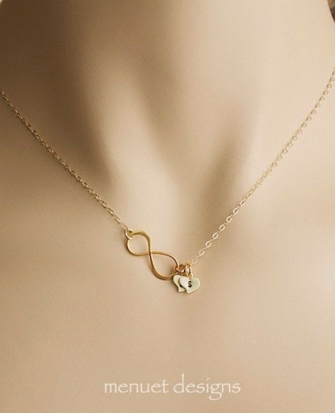 Collier or infini cadeau pour Coupls Eternity par MenuetDesigns