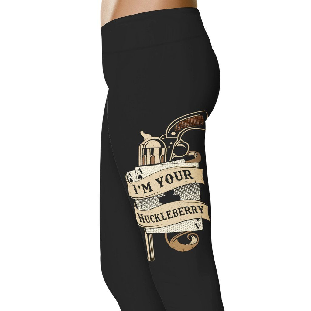 Grab Yourself These Must Have Tombstone Inspired Leggings For All Doc Holliday Fans Check Out More Tombstone Leggi Im Your Huckleberry Leggings Fashion Socks