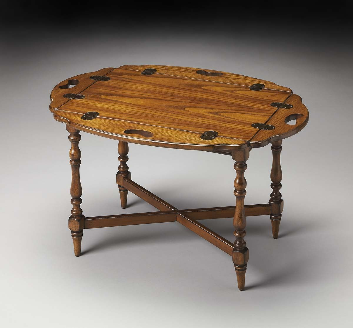 Olive Ash Burl Manchester Butler Table Masterpiece - 2216001