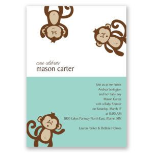 Monkey baby shower invitations vistaprint httpserotea monkey baby shower invitations vistaprint stopboris Gallery