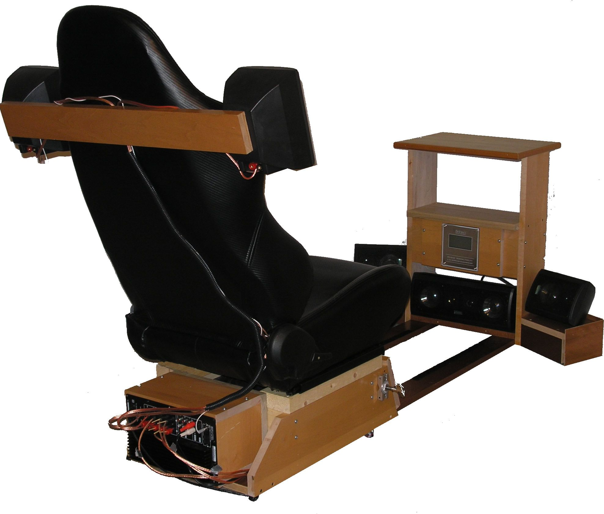 Artistic Gaming Chairs Setup With Wooden Frame By Monsta