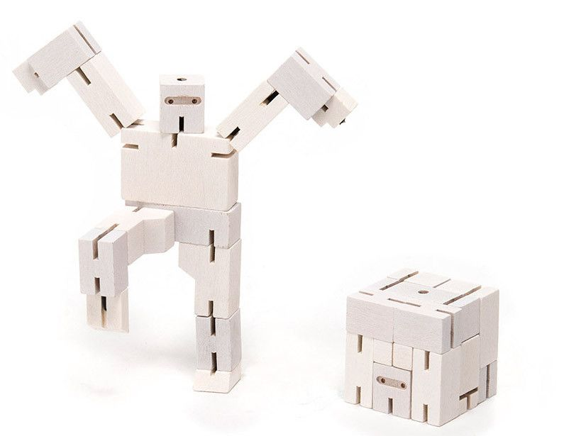 Cubebot Micro Ninja White Wooden Puzzle Robot Toy Kawaii Pinterest