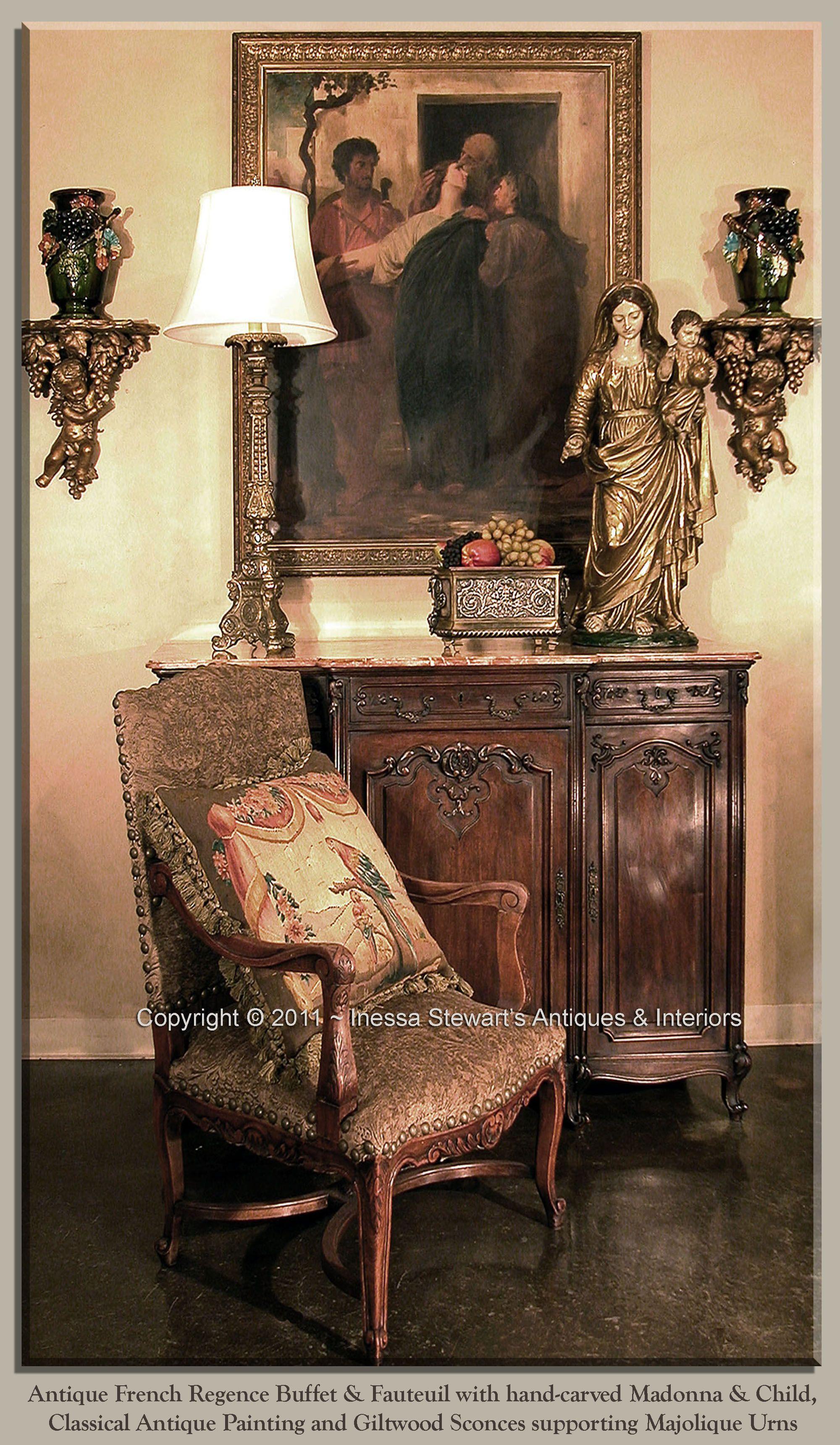 Antique Regence Buffet Fauteuil Antique Furniture Antique