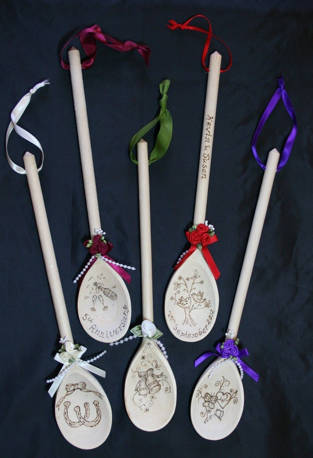 Personalised Wooden Spoon 5Th Wedding Anniversary Any