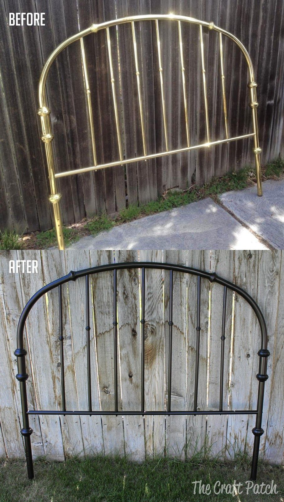 Old Brass Headboard Makeover Headboard Makeover Brass Headboard