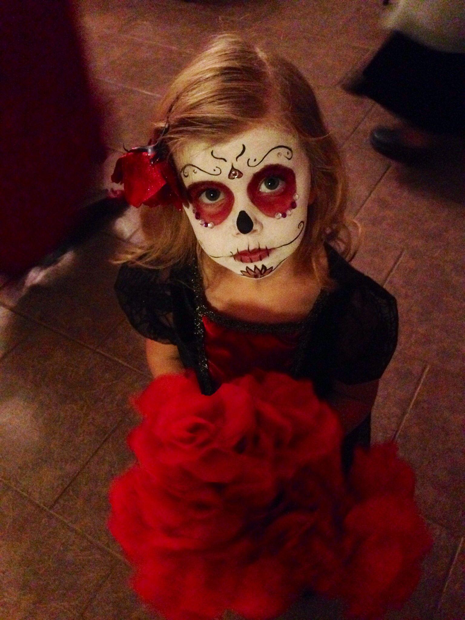 Sugar skull kids makeup   Halloween/Fall   Pinterest   Sugar ...