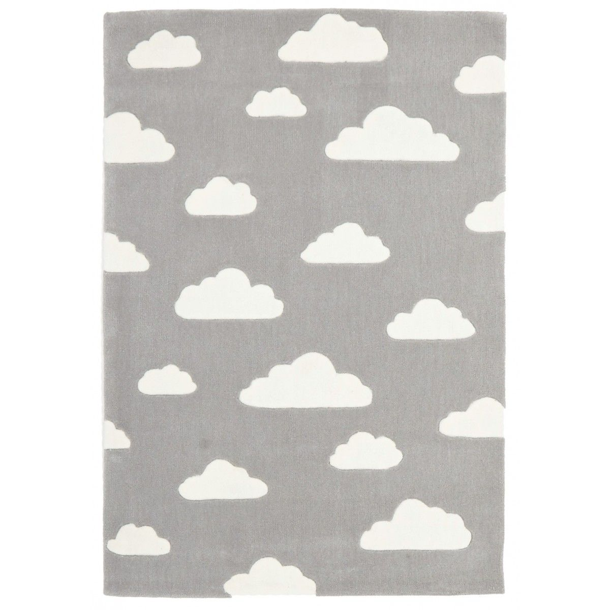 Narnia Grey Amp White Clouds Kids Rug Caspar Cloud Rug