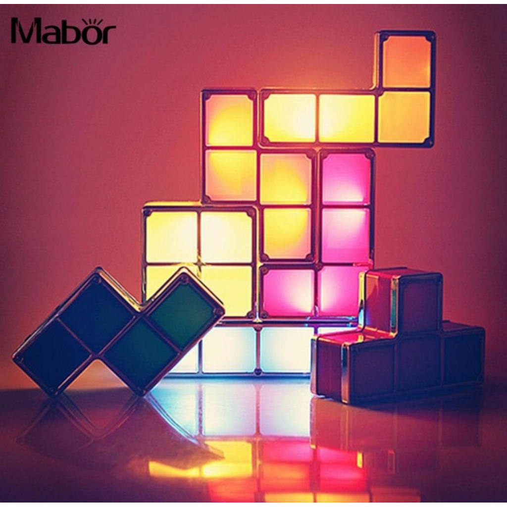 Tetris Diy Color Changing Night Light Night Light Diy Puzzle Lights Cool Gifts For Kids