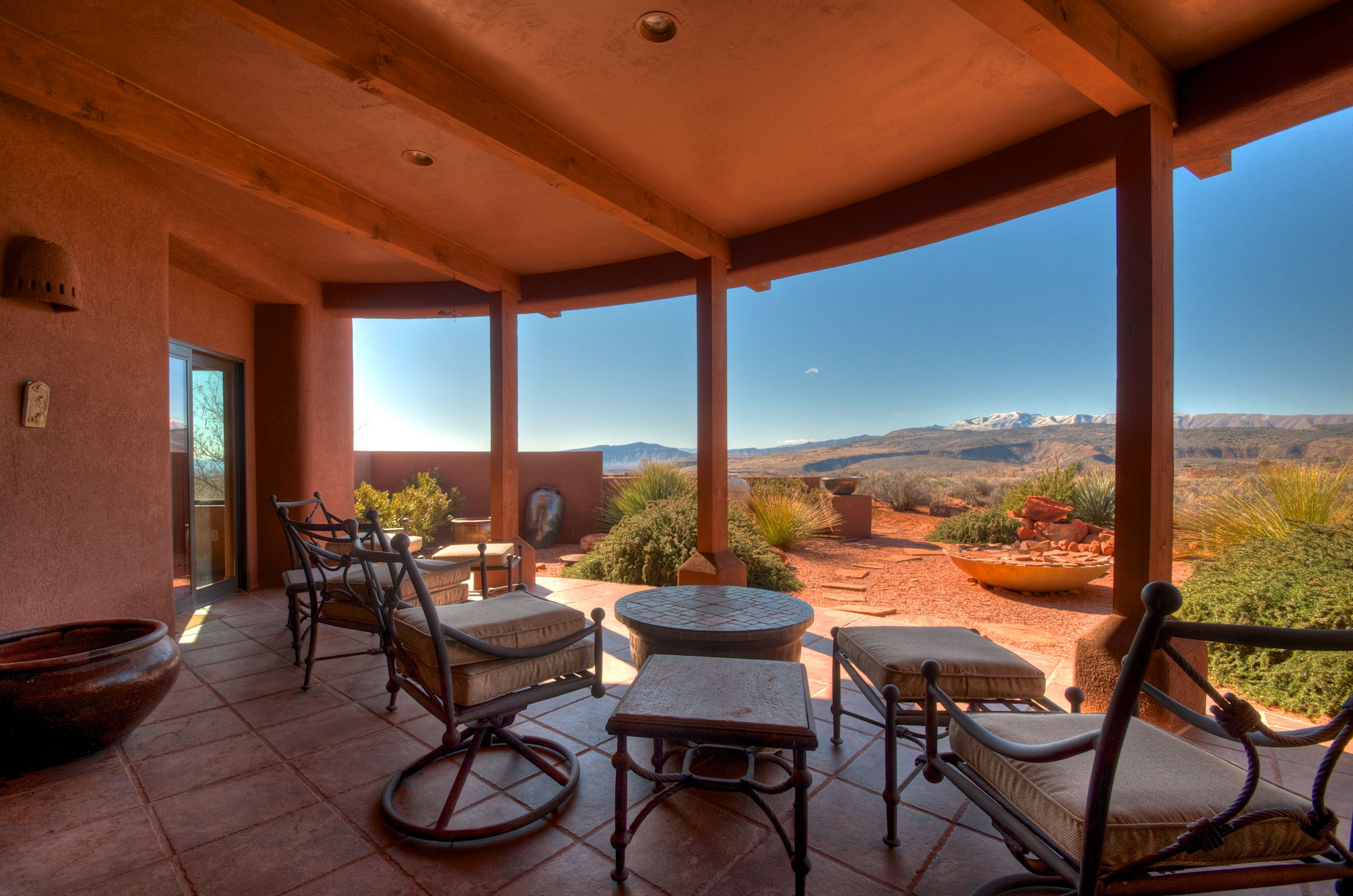 Views From Covered Patio Of Kayenta Utah Home