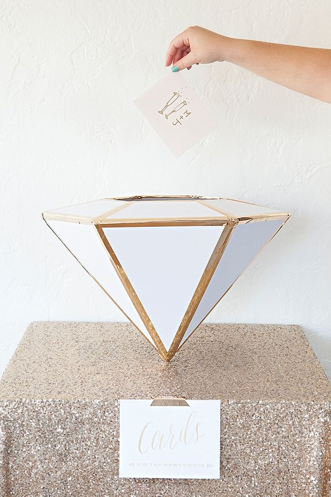 Learn How To Make This Giant Diy Wedding Card Box Diamond
