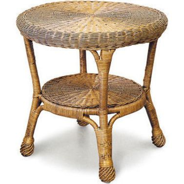 Best Windsor Outdoor Cane Round Side Table Antique Brown Buy 400 x 300