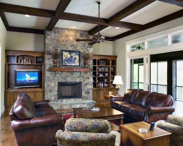Merveilleux 21 Beautiful Craftsman Living Design Ideas. Front Room DecorFront ...