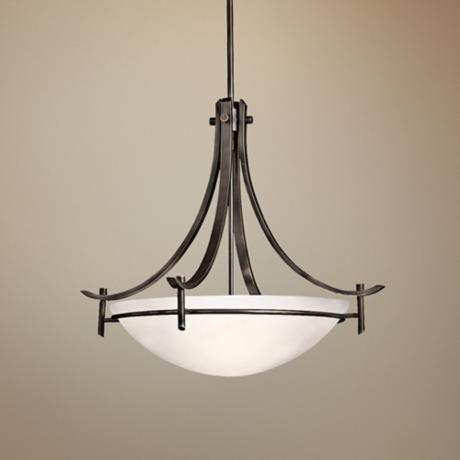 Olympia Inverted Pendant 3lt X2092 Lamps Plus Bronze Lamp Chandelier Pendant Chandelier